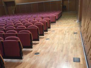 Rénovation sols salle de spectacles