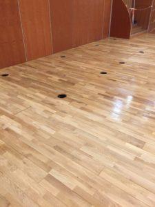 Rénovation parquet salle Archipel à Granville