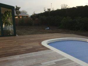 Rénovation terrasse en bois exotique
