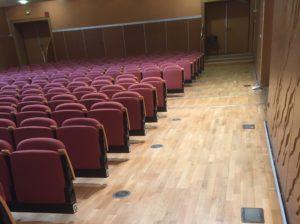 Restauration parquet salle de spectacle – Archipel Granville